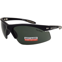 Mangrove Jacks Polarised Safety Glasses Bladerunner C1 Smoke