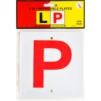 Plate Reversible L & Red P - Code 318 QLD ACT NT SA TAS
