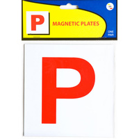 Plate Magnetic Red P - Code 322 QLD ACT NT SA TAS