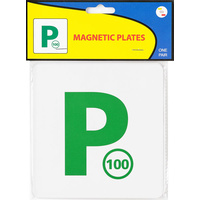 Plate Magnetic Green P - Code 325 NSW