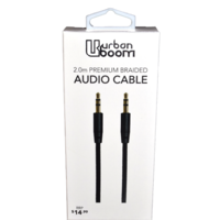 Urban Boom 2.0m Audio Prem. Braided Cable
